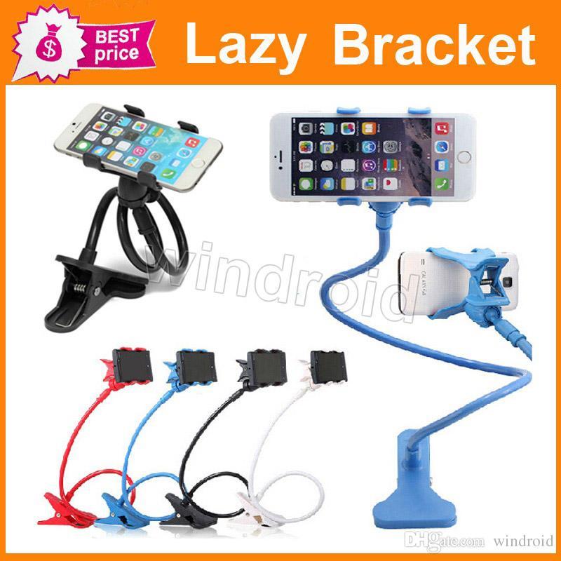 Soporte de soporte de teléfono móvil de escritorio de cama larga flexible flexible de brazos largos para Iphone6 6plus 5s Samsung 3-7inch 12cm para teléfono inteligente DHL
