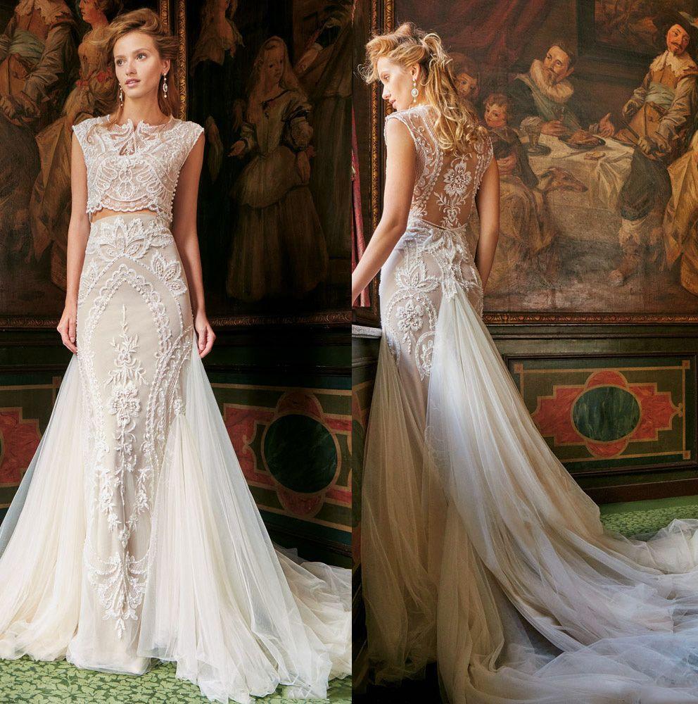 Beautiful Mermaid Wedding Gowns: 2016 Two Piece Mermaid Wedding Dresses Gorgeous Stunning