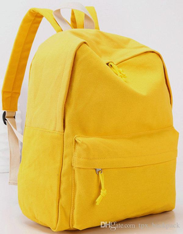 ea16907a0b4f Yellow backpack Muji day pack Hot sale school bag Casual packsack Quality  rucksack Sport schoolbag Outdoor daypack