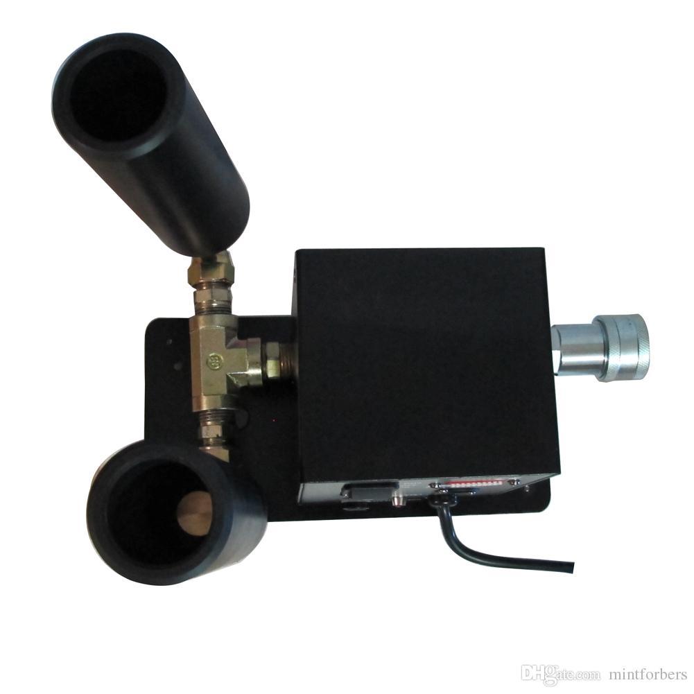 2 Piezas / lote Máquina de chorro de CO2 Máquina de doble tubería Equipo de Equipo DJ Effect Machine DMX o Control manual