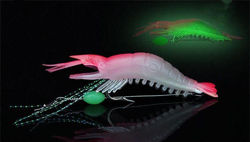 5-color 9cm 5.5g Shrimp Hook Silicone Lures Fishing Lure Soft Baits Fishing Hooks Fishhooks Artificial Bait Pesca Fishing Tackle