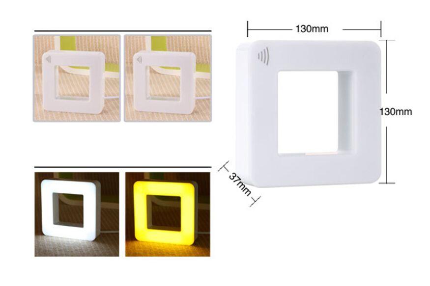 a bag Creative smart sensor night light baby night light LED energy-saving plug, sound and light control two in one box lights