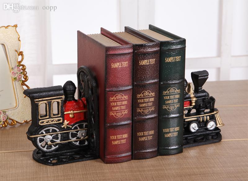Online Cheap Wholesale Exquisite Little Train Iron Bookends Creative Train Office  Bookends Decoration Iron Book Stand Nice Gift By Oopp | Dhgate.Com
