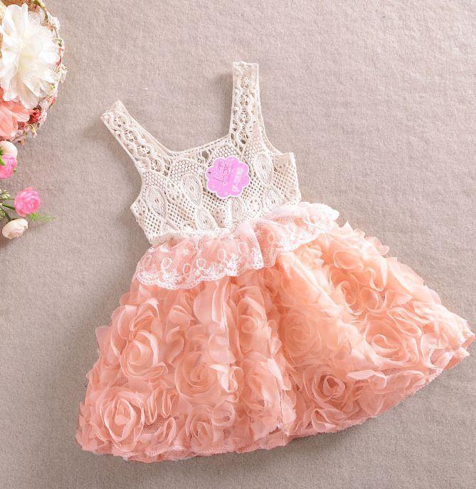 115e7e5a3 2019 Hot Sale Summer Girls Rose Lace Dress Babies Chiffon Princess Dress  Childrens Rose Lace Princess Dress Wholesale Kids Summer Clothing From  The_one, ...
