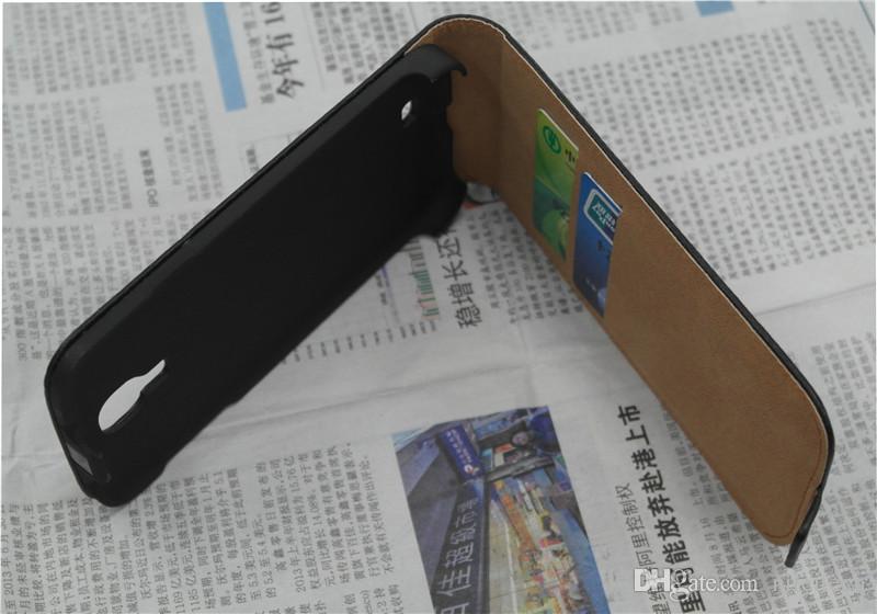 Custodia a libro verticale in pelle PU portafoglio con supporto di carta iPhone 5S 5C 6 Plus Samsung Galaxy S3 S4 S5 bordo Mini S6 Nota 3 4 A3 A5 A7
