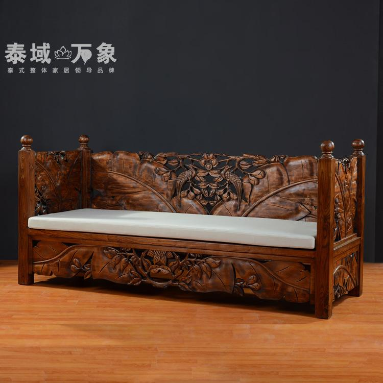 Nice 2018 Thai Wood Sofa At Home In Southeast Asia Thai Carved Wood Furniture  Living Room Sofa Sofa Classical From Zhoudan5244, $6028.55 | Dhgate.Com