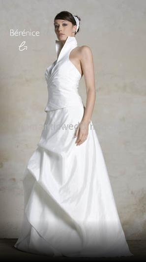 Discount wholesale wedding dresses 2010 new style a for High collared wedding dress