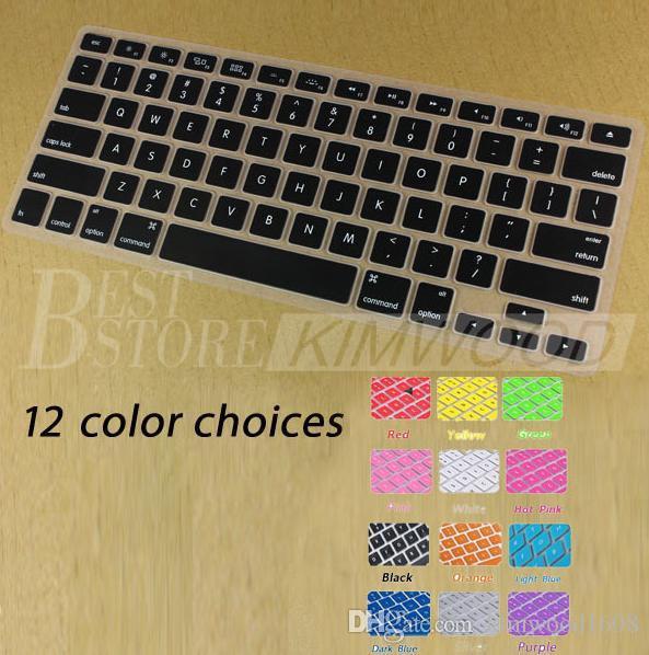Laptop Soft Silikon Bunte KeyBoard Fall-Schutz-Abdeckungs-Haut für MacBook Pro Air Retina 11 13 15 Wasserdicht Staubdicht mit Kleinkasten