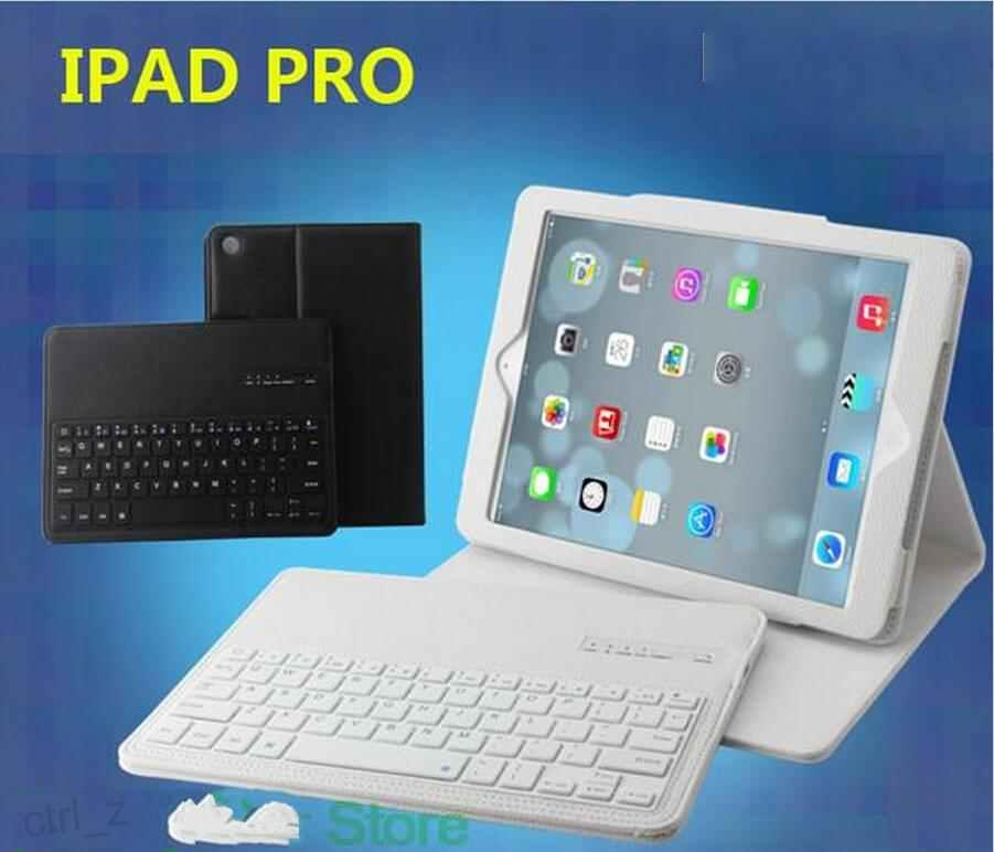 Wireless Bluetooth Keyboard Smart Cover Cases For iPad pro 12.9inch with leather stand retail box