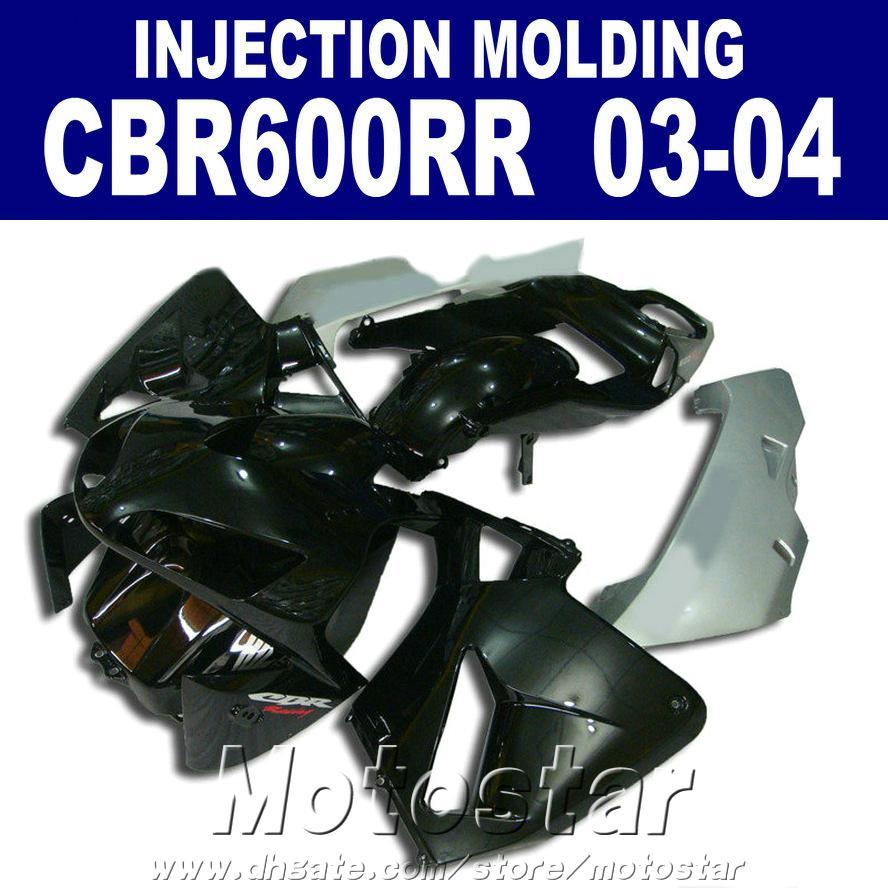 7 Hediyeler HONDA CBR 600RR için ABS plastik siyah kaporta 2003 2004 Enjeksiyon Kalıplama 03 04 cbr600rr özel kaporta zQK8