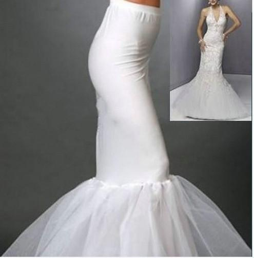 2015 wedding dress petticoats mermaid slip floor length for Mermaid slip for wedding dress