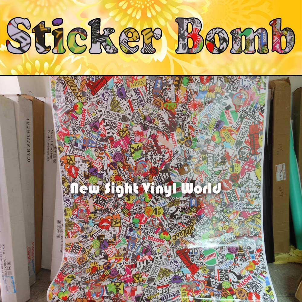 2019 Premium Jdm Euro Style Stickerbomb Vinyl Car Wrap Sticker