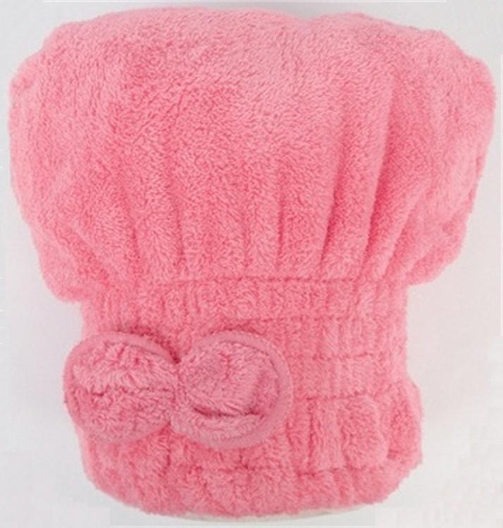 chapeau de chapeau de cheveux secs serviettes chapeau serviette papillon séchage rapide pour les femmes rose rouge bleu violet