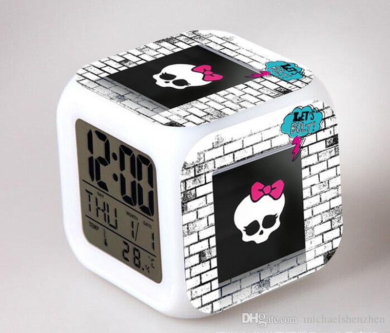 39 تصميم الأطفال الوحش عالية ساعة 2015 جديد جميل الصمام نمط الكرتون الوحش عالية ليلة ملون متوهجة اللعب b001