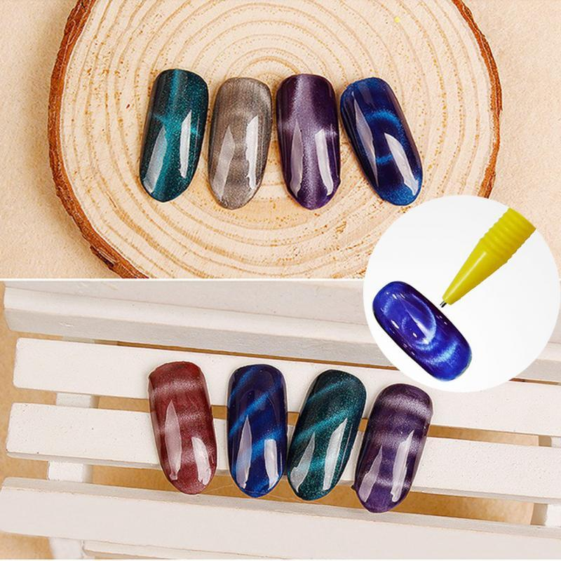 Nail Art Magnet Pen for UV Cat Eye Polish Manicure DIY Magic 3D Magnetic Cats Eyes Polish Tool with Factory Price