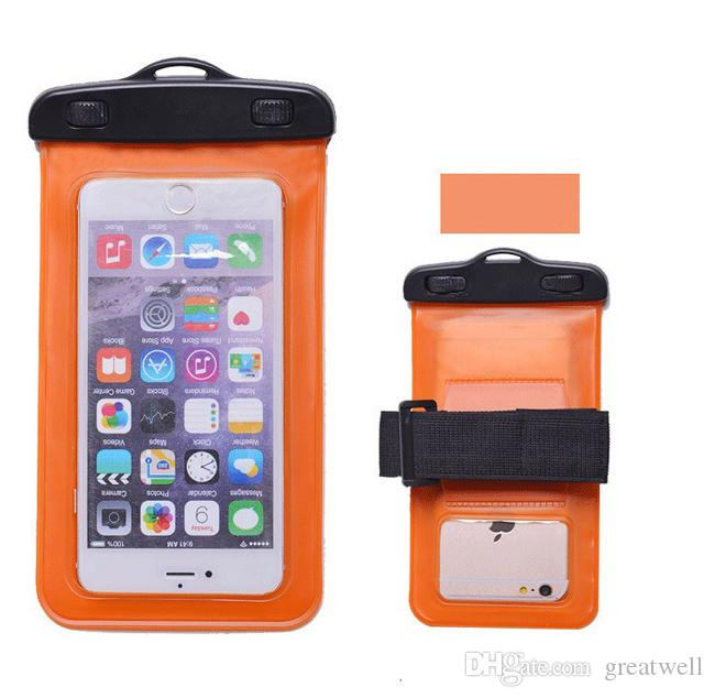 Waterproof Pouch Mobile Phone Bags Underwater Dry Case Cover With Armband For iphone 5S 6 6S 7 8X Plus for Samsung S8