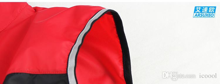 Giacca da ciclismo antivento traspirante riflettente Giacca da ciclismo Uomo Donna / Abbigliamento sportivo da ciclismo Maglia da ciclista Abbigliamento senza maniche Giacca da ciclismo