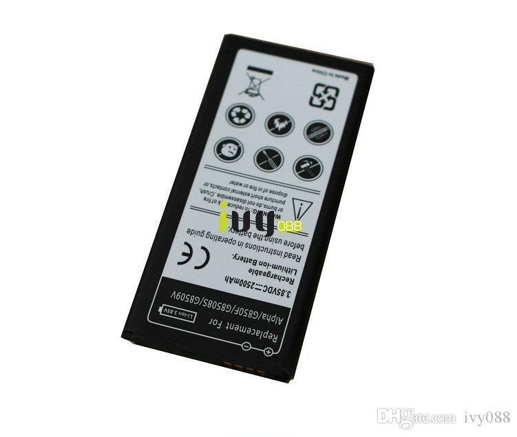 3X 2500MAH EB-BG850BBE البطارية لسامسونج غالاكسي ألفا G850 G8508 G8508S G8508S G8509v G850F بطاريات G850T بطارية البطارية Batteri