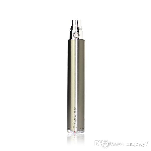 Majesty Factory Price eGo-c Twist Battery 650/900/1100/ 1300mah for Electronic Cigarette ego E Cigarette Variable Voltage Battery