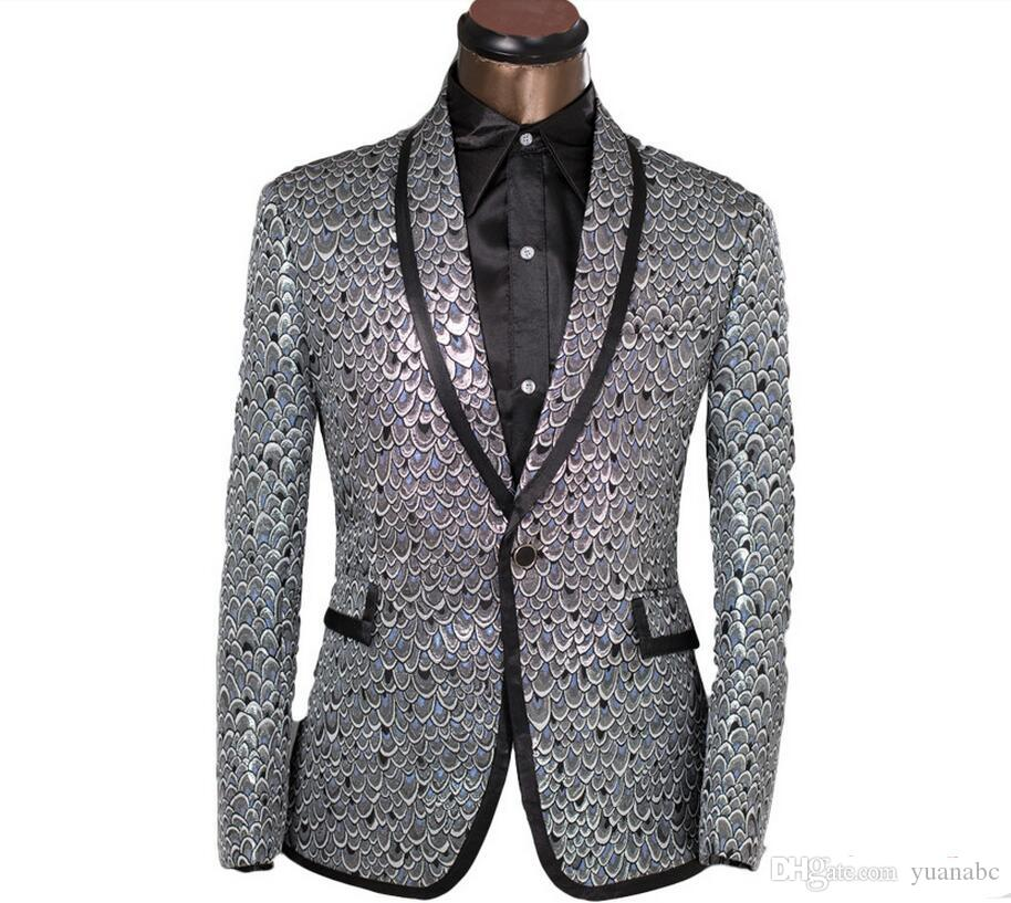 2019 New Arrival Moda Slim Men Suit Jacket Men terno formal do vestido de casamento da marca Blazer Costumes Men S-6XL frete grátis
