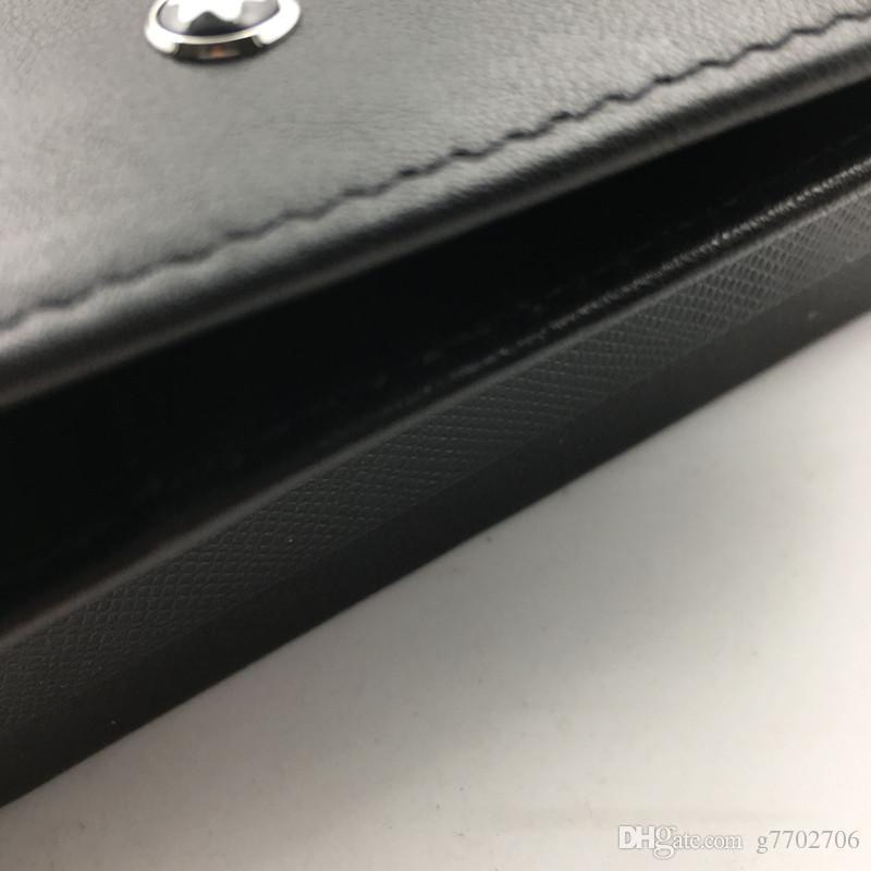 Black Genuine Leather Passport Holder Wallet for Travel Classic Brand Designer Men Credit Card Holder ID Card Case 2018 New Passport Cover