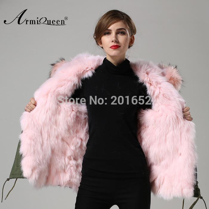 2018 Facebook Instagram 100% Real Genuine Raccoon Pink Fur Collar ...