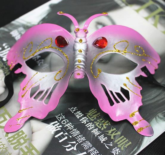 2015 Diamond Bee Masquerade Maski Cute Butterfly Moda Pół twarz Halloween Party Maska Mieszaj Kolory 10 sztuk / partia Tanie