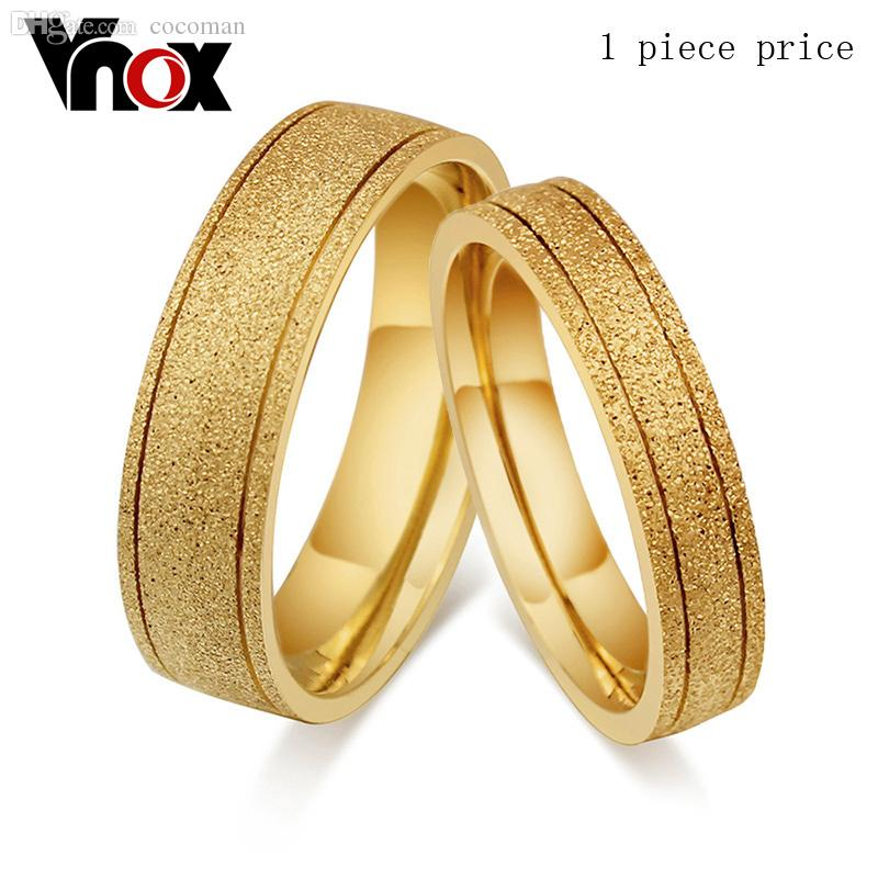 Wholesale Vintage Couple Gold Ring For Men And Women Dull Polish ...