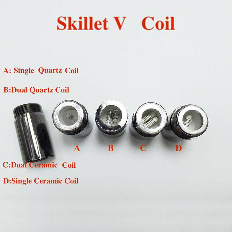 Skillet V Vaporizer coils Puffco pro Portable Upgraded Wax Dry herb atomizer large Ceramic chamber replaceable coil head
