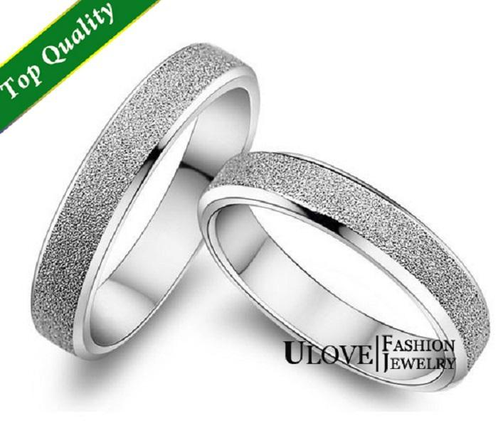 wholesale designer sterling silver rings wedding rings pair couple rings wedding band men jewelry women accessories ulove j047 rings for men cubic - Designer Wedding Rings