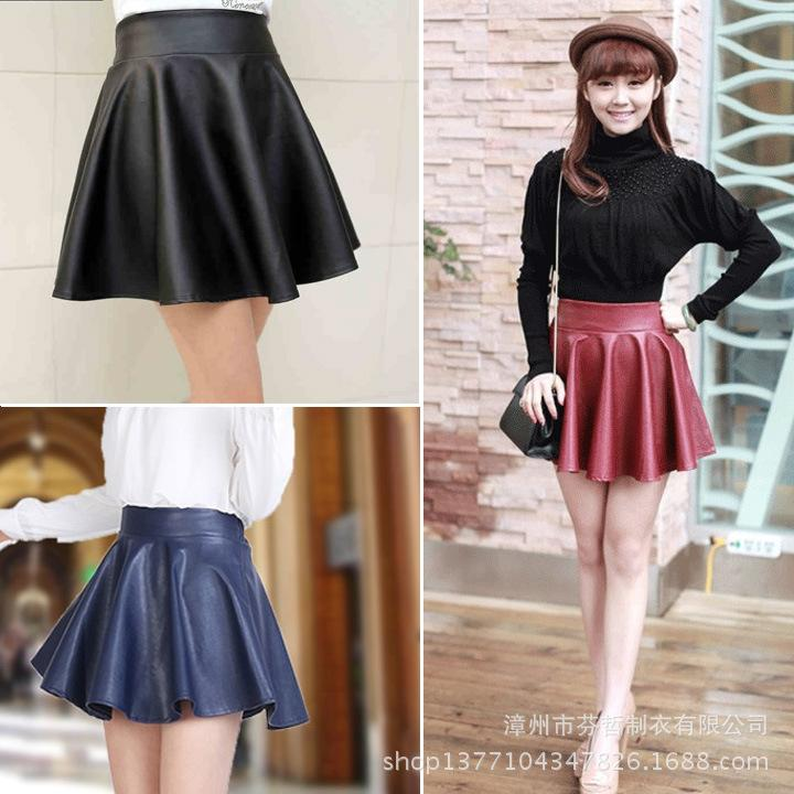 2017 Pu Leather Skirt Female Wild Spring And Summer Skirts High ...