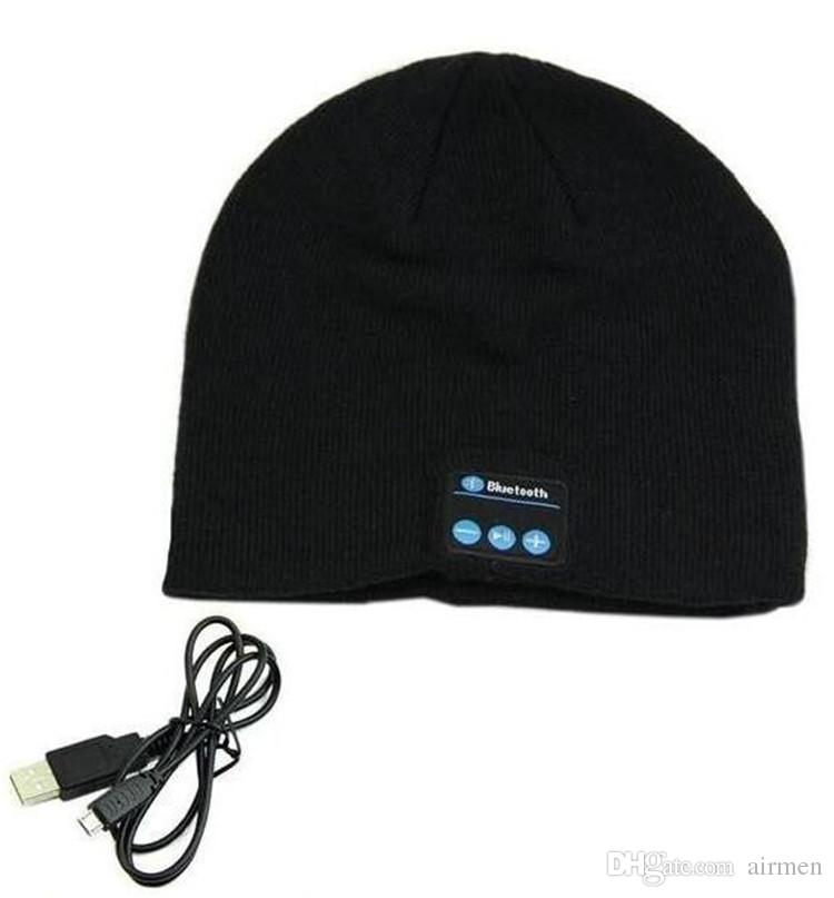 Hot Sale Chirstmas gift Bluetooth Music Soft Warm Hat With Stereo Headset Speaker Wireless Hands-free Cap High Quality 2015 Newest