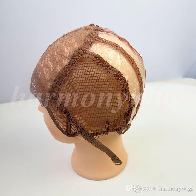 U часть парик шапки для изготовления париков стрейч кружева с регулируемыми ремнями обратно ткать cap наращивание волос инструменты