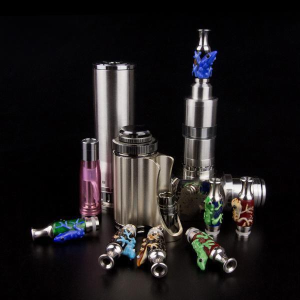 Vase Style Drip Tips 510 Pyrex Glass Vape Mouthpieces With Animal Fit Kanger Protank DCT EVOD FJ262