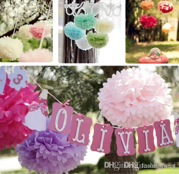 Party decoration paper flowers tissue paper pom poms colorful flower party decoration paper flowers tissue paper pom poms colorful flower balls decorations fashion romance sweet illusion pom poms festival su cheapest wedding mightylinksfo