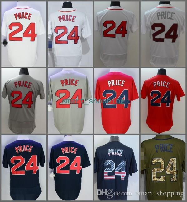 c077de61085 2018 Flexbase  24 David Price Home Away Baseball Jersey White Red Blue Grey  Cool Base Stitched Jerseys Jerseys Online with  25.7 Piece on  Smart shopping s ...