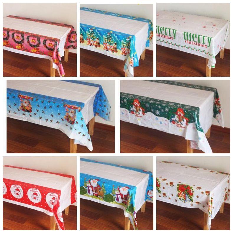 108*180cm christmas tablecloth pe disposable table cloth printed