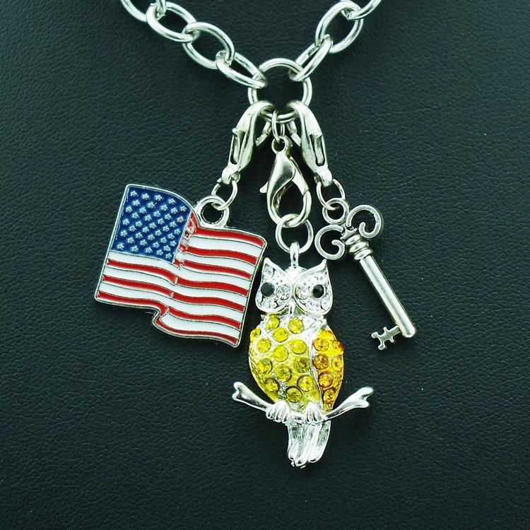 أزياء رائعة سحر سبيكة المشبك جراد البحر خمر مفتاح مجوهرات اكسسوارات DIY