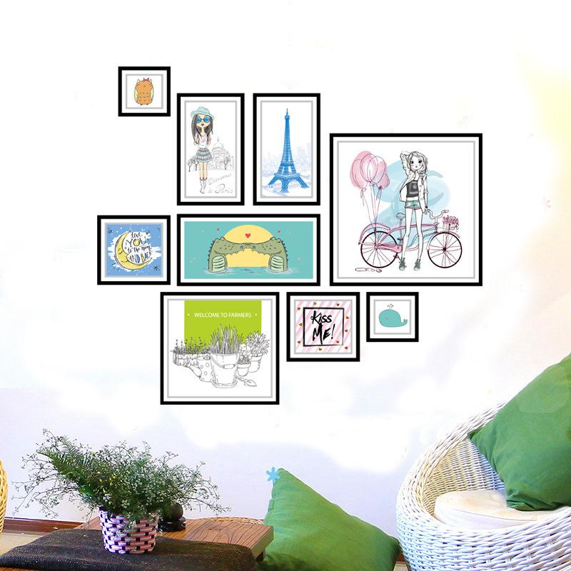 Großhandel Kreative Rahmen Bild Dekoration Wandaufkleber Für ...