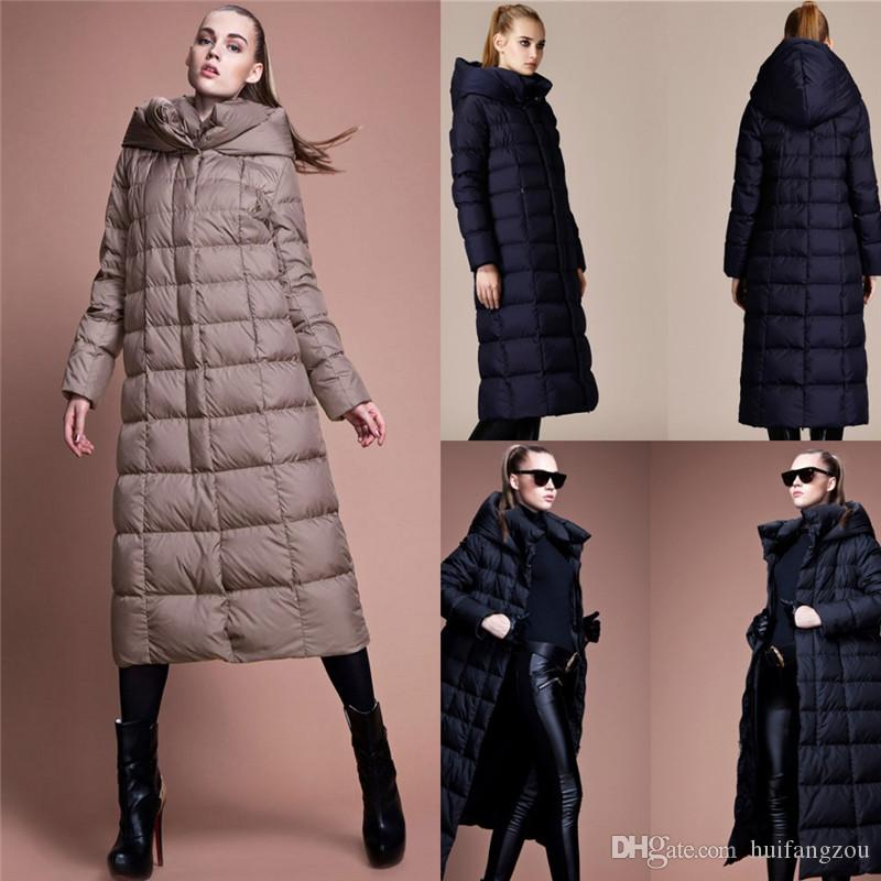 2018 2016 Women Long Down Coats With Hood Warm Thicken Down Coats ...