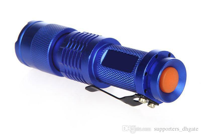 Flash Light 300LM CREE Q5 LED Camping Flashlight Torch Adjustable Focus Zoom waterproof flashlights Lamp