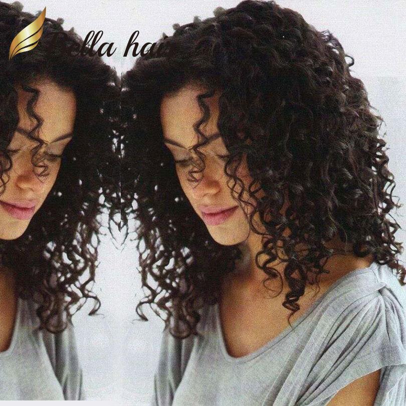 Hair Wigs For Black Women Bouncy Curly Full Lace Wigs Deyable Natural Color Front Lace Wigs with Natural Hairline Free shipping Bella Hair