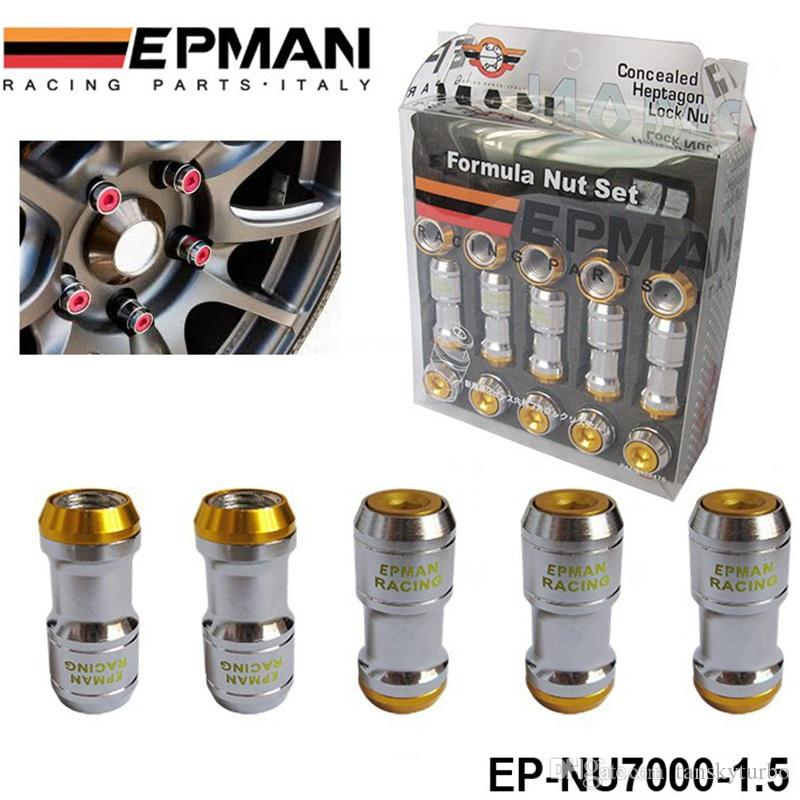 أصيلة EPMAN FORMULA FORMULA LOCK LUG LUG NUTS M12X1.5 ACORN RIM CLOSE END JDM H FOR VOLK RAYS STEY EP-NU7000-1.5