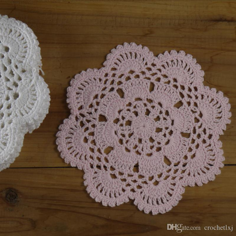 in ~ Delicate design crocheted doilies for wedding, handmade coasters table mats for home, DIY doilies for dream catchers ~ ROUND