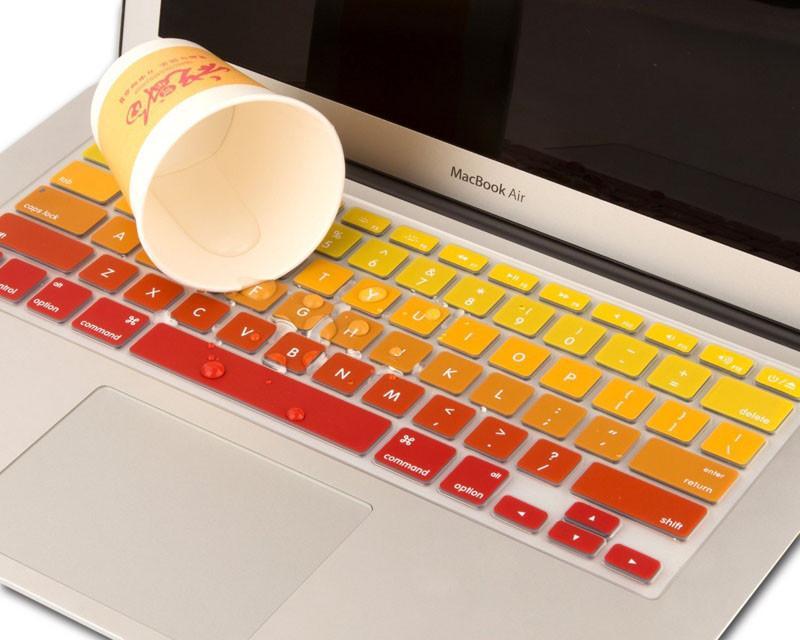 Macbook Air 13 Pro 및 Pro Retian 13 15 17 인치 iMac 키보드 보호기 실리콘 스킨 스티커 용 방수 키보드 커버