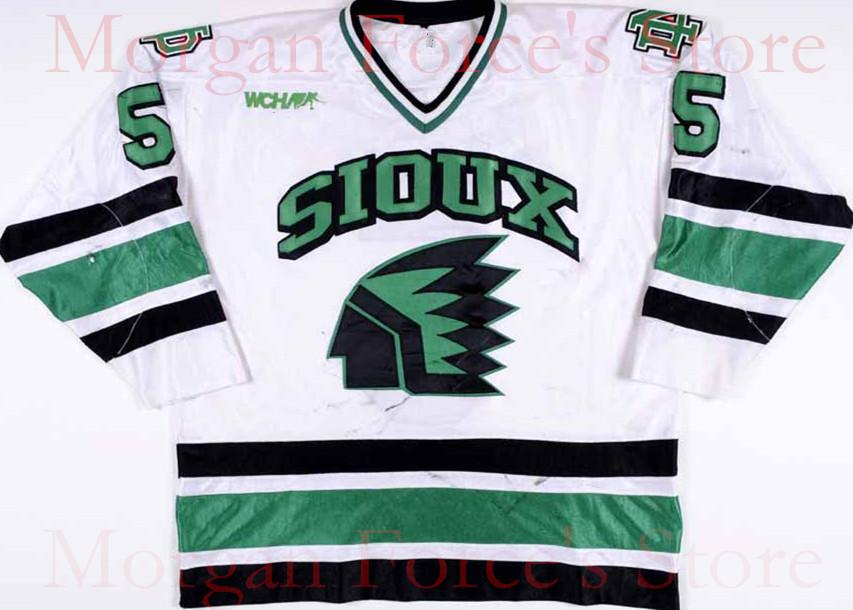 buy online 0773c 5268c Mens,Womens,kids-University North Dakota Fighting Sioux Hockey Jersey  1997-99 #5 Jason Blake Game Worn Jersey Custom Any name&No. XXS-6XL