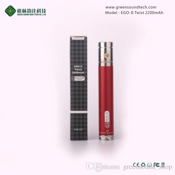 Made in China EGO II Twist 2200mah battery variable voltage 3.3-4.8V ego battery vape pen batteries