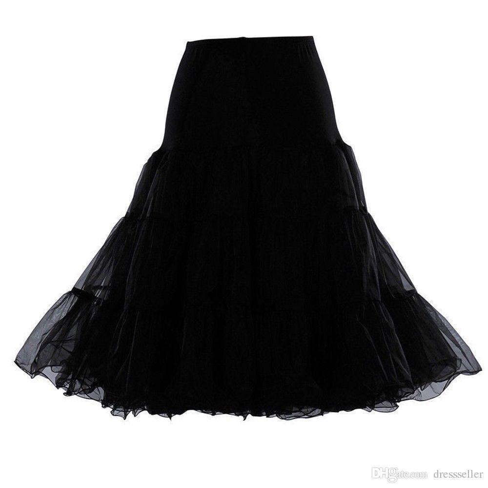 "In Stock High Quality 26"" 50s Retro Underskirt Swing Vintage Petticoat for short Dress Fancy Net Skirt Rockabilly Tutu"