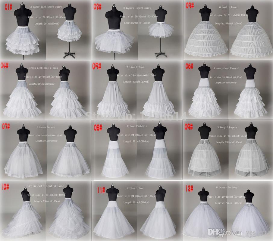 10 스타일 싼 흰색 라인 볼 가운 인어 웨딩 댄스 파티 신부 Petticoat underskirt Crinoline 웨딩 액세서리 신부 슬립 드레스