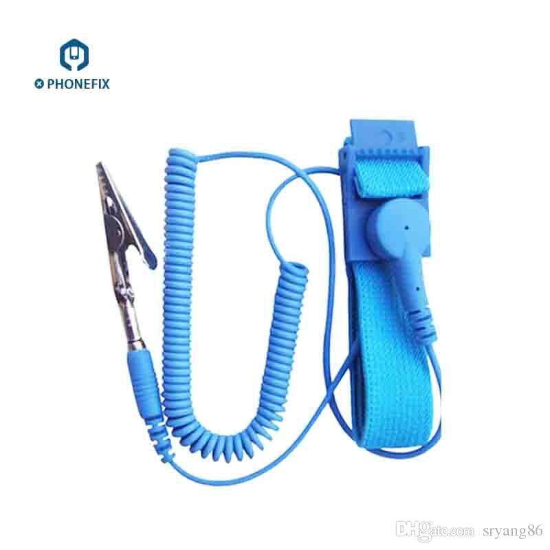 Antistatic Wristband Esd Wrist Strap Blue Metal Discharge For Electrician Ic Plcc Worker Antistatic Bracelet Free Shipping Back To Search Resultstools